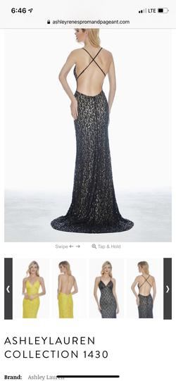 Ashley Lauren Black Size 14 Jewelled Sequin Straight Dress on Queenly