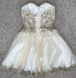 Gold Size 2 Ball gown on Queenly