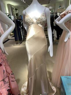Jovani Pink Size 4 Pageant Train Straight Dress on Queenly
