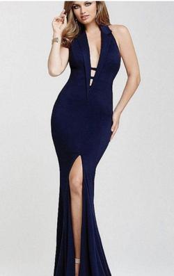 Jovani Black Size 0 High Neck Straight Dress on Queenly