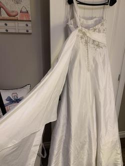 Sweetheart by Justin Alexander White Size 12 Mermaid One Shoulder A-line Dress on Queenly