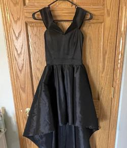 Windsor Black Size 8 High Low A-line Dress on Queenly