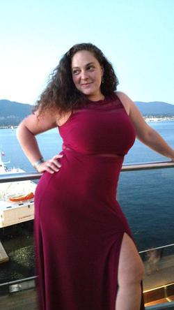 Nightway MN Purple Size 16 Wedding Guest Sheer Plus Size Side slit Dress on Queenly