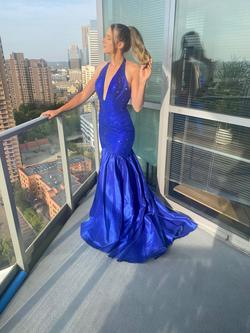 Portia and Scarlett Blue Size 4 Pageant Mermaid Dress on Queenly