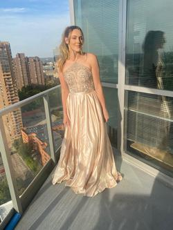 Vienna Gold Size 2 Light Pink Nude Ball gown on Queenly