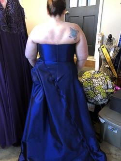 MacDuggal Blue Size 20 Ball gown on Queenly