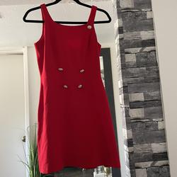 Kenar Red Size 2 Vintage Studded A-line Dress on Queenly