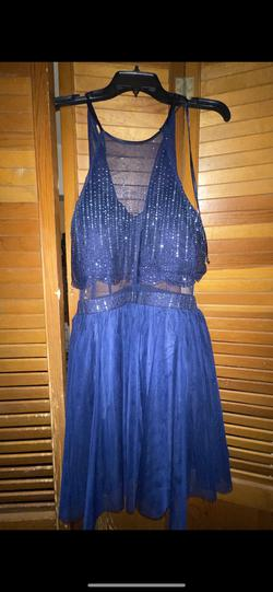 Blue Size 14 Cocktail Dress on Queenly