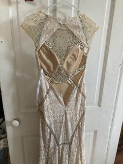 Rachel Allan Nude Size 4 Straight Dress on Queenly
