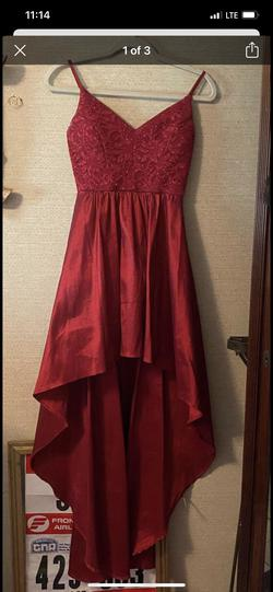 n/a Red Size 4 Sorority Formal V Neck A-line Dress on Queenly