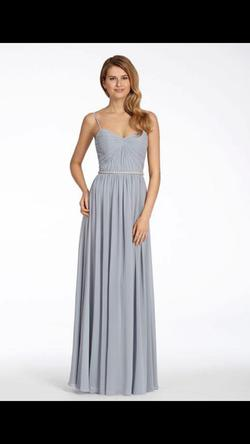 Style 5701 Hayley Paige Blue Size 22 Sorority Formal Tulle Spaghetti Strap A-line Dress on Queenly