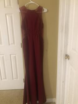 Poem Red Size 14 Prom Plus Size Vintage Mermaid Straight Dress on Queenly