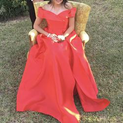 PromGirl Red Size 6 Pageant Ball gown on Queenly