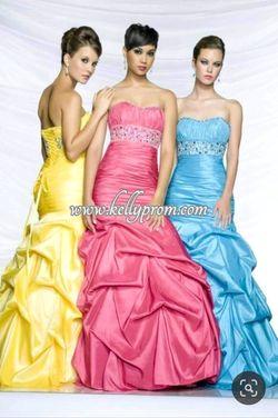 Style 81087 Antonio Castilli Prom Pink Size 6 Sweetheart Ruffles Mermaid Dress on Queenly