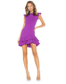 Revolve-Susana Monaco Pink Size 0 Ruffles Cap Sleeve Cocktail Dress on Queenly