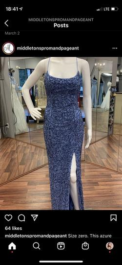 Primavera Blue Size 0 Pageant Spaghetti Strap Straight Dress on Queenly