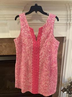 Lily Pulitzer Pink Size 16 Wedding Guest Sorority Formal V Neck Straight Dress on Queenly
