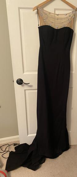 Sherri Hill Black Size 8 Tulle Straight Dress on Queenly