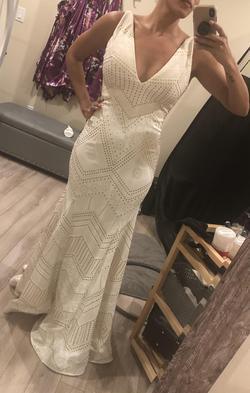 Jovani Multicolor Size 6 V Neck A-line Dress on Queenly