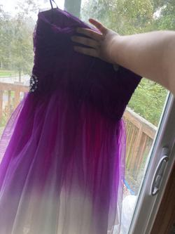 B. Darlin Purple Size 8 Pink Homecoming Sorority Formal Cocktail Dress on Queenly
