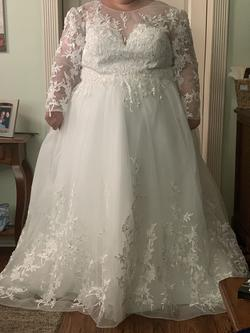 White Size 28 A-line Dress on Queenly
