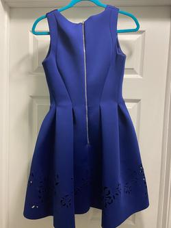 Mac Duggal Blue Size 0 Homecoming Sorority Formal Cocktail Dress on Queenly
