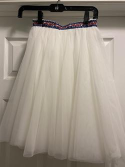Sherri Hill White Size 0 High Neck Sheer Tulle Cocktail Dress on Queenly