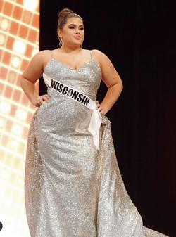 Custom Gold Size 16 Sweetheart Showstopper Train Dress on Queenly