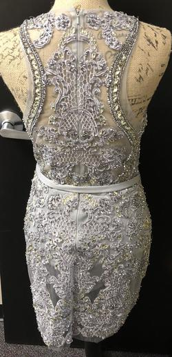 Silver Size 6 Cocktail Dress on Queenly