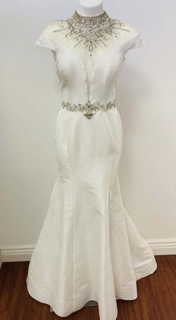 Envious Couture White Size 8 Pageant Side slit Dress on Queenly