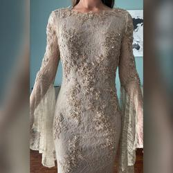 Christina Wu Nude Size 6 Prom Pageant Straight Dress on Queenly