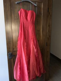 Angel Sanchez Red Size 8 Prom Orange Ball gown on Queenly