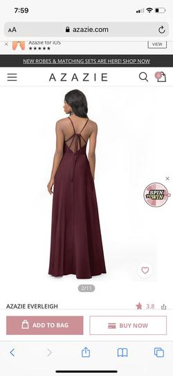 Azazie Red Size 8 Wedding Guest Bridesmaid Sorority Formal A-line Dress on Queenly