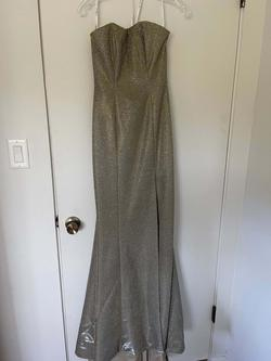 Sherri Hill Silver Size 00 Prom Pageant Mermaid Dress on Queenly