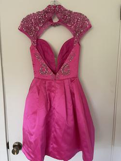 Sherri Hill Pink Size 00 Homecoming Sweetheart Tulle Cocktail Dress on Queenly