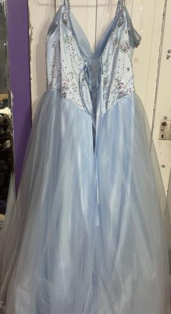 Blue Size 26 Ball gown on Queenly