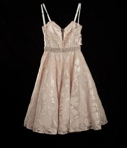 Mac Duggal Pink Size 0 Shiny Sheer Sequin A-line Dress on Queenly