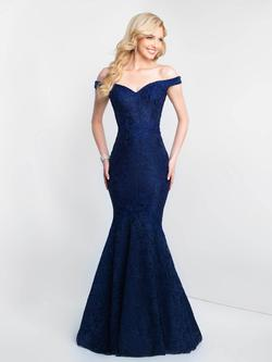 Style 425 Blush Prom  Blue Size 6 Straight Dress on Queenly