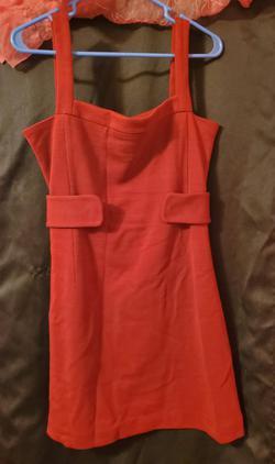 Moda International Red Size 2 Belt Straight Dress on Queenly