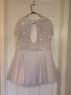 Sherri Hill White Size 24 Feather Sequin Cocktail Dress on Queenly