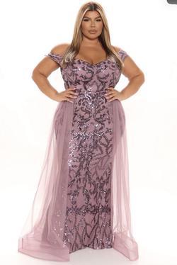 Purple Size 18 Train Dress on Queenly