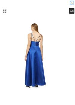 My michelle Blue Size 0 Sorority Formal Spaghetti Strap Halter Ball gown on Queenly