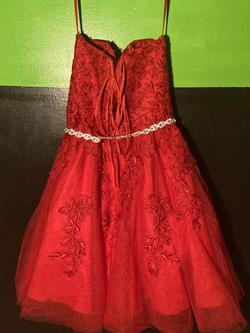 DQueens Boutique Red Size 0 Belt A-line Dress on Queenly