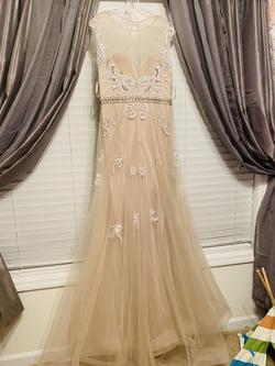 Nude Size 16 Mermaid Dress on Queenly