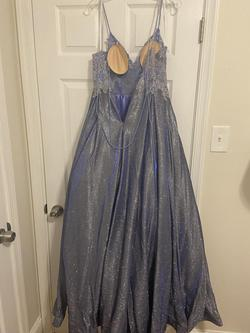 Jovani JVN2206 Purple Size 2 Corset Spaghetti Strap Ball gown on Queenly