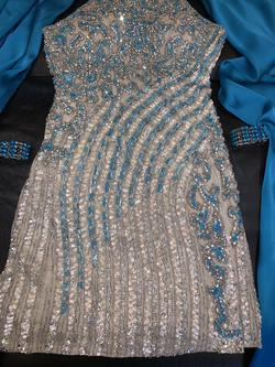 Sherri Hill Blue Size 2 Homecoming Sequin Fun Fashion Cocktail Dress on Queenly