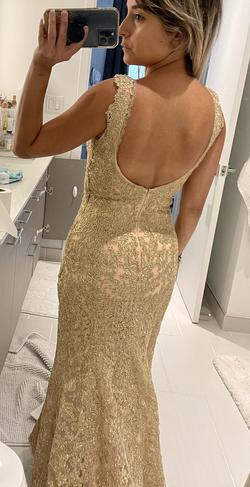 Gold Size 00 Mermaid Dress on Queenly