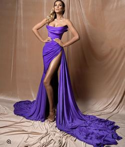 Albums Dyla Purple Size 4 Pageant Train Side slit Dress on Queenly
