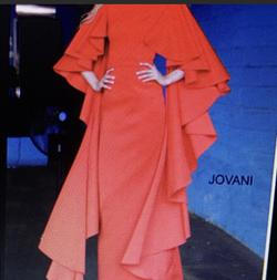 Jovani Red Size 12 Side Slit Straight Dress on Queenly