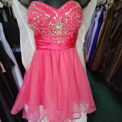 Style 1001667 JOSH N JAZZ Pink Size 4 Sweetheart Cocktail Dress on Queenly
